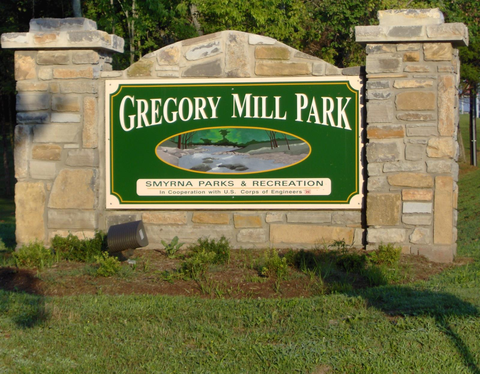 Gregory Mill sign