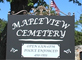 Mapleview Cemetery Spring Clean-up