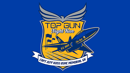 Top Gun Run Banner Logo